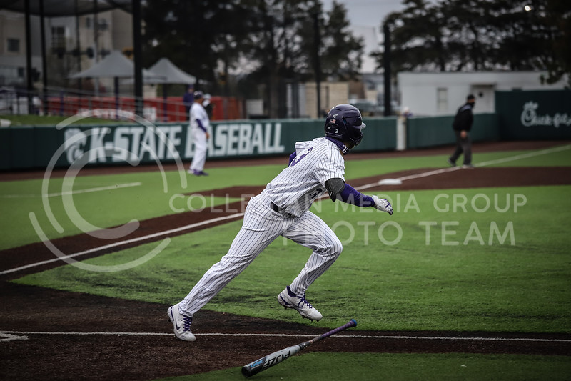 Redshirt Junior Kameron Willman running for first after hitting to ball to the outfield on Friday's game ( April 23, 2021) against Western Virginia at Tointon Stadium. <br /> Elizabeth Proctor  Collegian Median Group