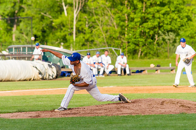 Steeplecats' pitcher Christopher Cepeda throws a pitch in the first inning.