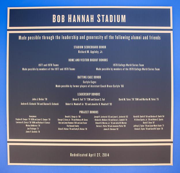 Hannah Stadium rededication ceremony