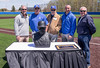 Hanna Stadium rededication ceremony