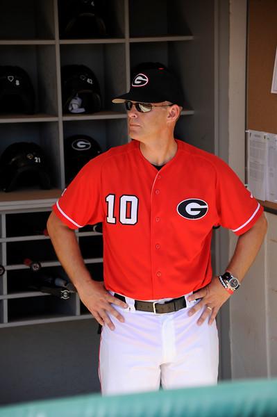 Head Coach Scott Stricklin (10) -  Georgia baseball team (Photo by Cory A. Cole / Georgia Sports Communications)