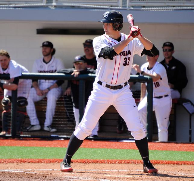 Georgia first baseman Keegan McGovern - UGA baseball team (Photo by John Kelley / Georgia Sports Communications)