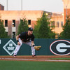 Georgia third baseman Mitchell Webb (6) watches the pitch during the NCAA baseball game between Georgia and Georgia Tech at Foley Field on Tuesday, April 26, 2016 in Athens, Ga. (Photo by Emily Selby)