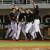 Players cheer from the dugout during the NCAA baseball game between Georgia and Georgia Tech at Foley Field on Tuesday, April 26, 2016 in Athens, Ga. (Photo by Emily Selby)