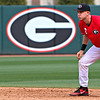 Georgia infielder LJ Talley (2) watches the pitch during the NCAA baseball game between Georgia and Lipscomb at Foley Field on Saturday, March 12, 2016 in Athens, Ga. (Photo by Emily Selby)