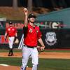 Georgia pitcher Chase Adkins (23) during the Bulldogs' game against Charleston at Foley Field in Athens, Ga., on Sunday, February 19, 2017. (Photo by Cory A. Cole)