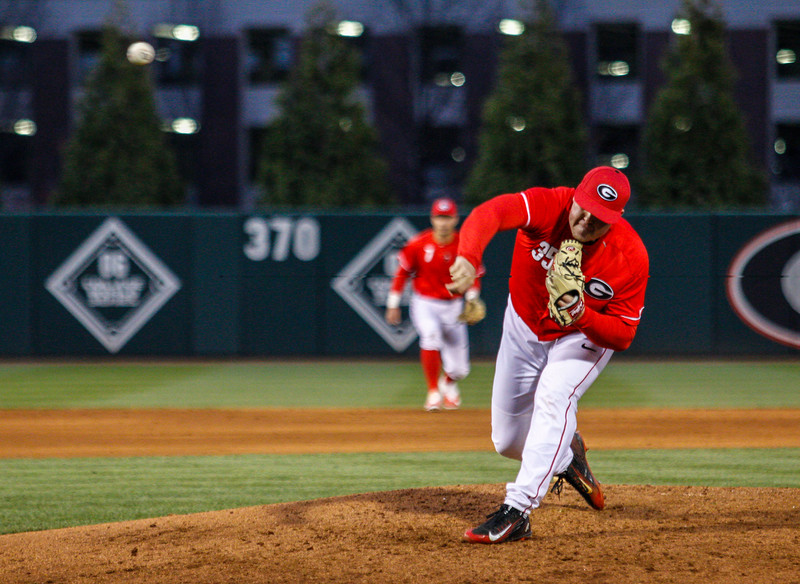 Diamond Dogs' pitcher Blake Cairnes (35)  Georgia Baseball Team (Photo by John Paul Van Wert/Georgia Sports Communication)
