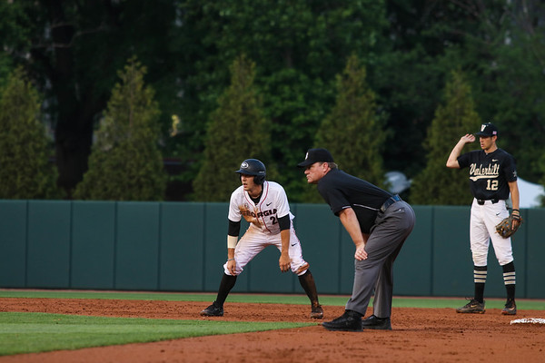 Georgia outfielder Tucker Bradley (28) during the Bulldogs' game against Vanderbilt at Foley Field in Athens, Ga. on Friday, April 21, 2017. (Photo by Cory A. Cole)