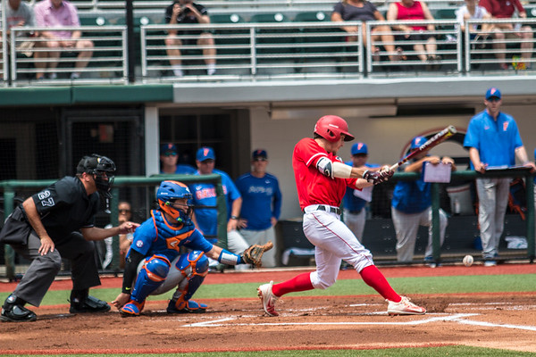 Georgia outfielder Tucker Bradley (28) during the Bulldogs' game against Florida at Foley Field in Athens, Ga. on Saturday, April 29, 2017. (Photo by John Paul Van Wert)