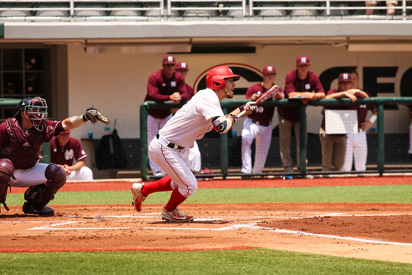 Georgia outfielder Tucker Bradley (28) during the Bulldogs' game against Mississippi State at Foley Field in Athens, Ga. on Friday, May 12, 2017. (Photo by Cory A. Cole)