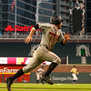 Georgia outfielder Tucker Bradley (28) during the Bulldogs' game against Georgia Tech at SunTrust Park in Atlanta, Ga. on Tuesday, May 9, 2017. (Photo by Cory A. Cole)