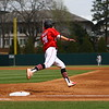 Georgia outfielder Tucker Bradley (28) during the Bulldogs' game against South Carolina at Foley Field in Athens, Ga. on Saturday, March 24, 2018. (Photo by Steffenie Burns)