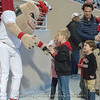 Hairy Dawg greets his fans – Georgia vs. Toledo – March 9, 2018