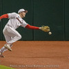 Mitchell Webb cannot quite get to this foul ball – Georgia vs. Toledo – March 9, 2018