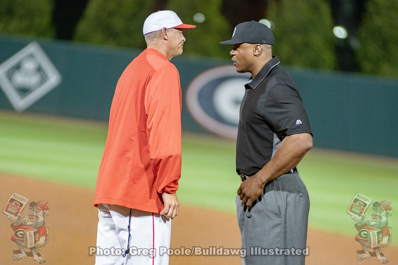 Scott Stricklin discusses a call with the 1st base ump