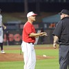 Scott Stricklin discusses a call with the umpire  - Georgia vs. Georgia Tech - April 3, 2018