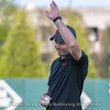 Georgia national championship track and field coach, Petros Kyprianou threw the first pitch