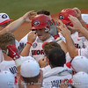 Keegan McGovern (32) is mobbed by teammates