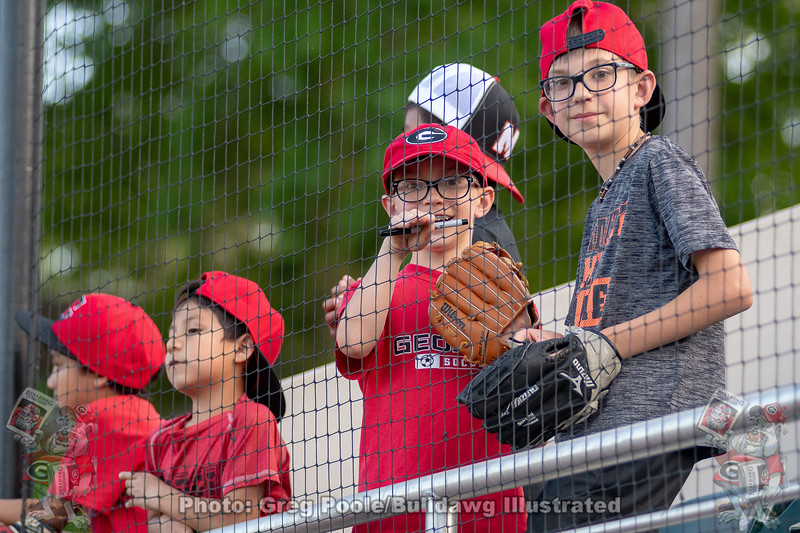 Young fans trying to snag an autograph
