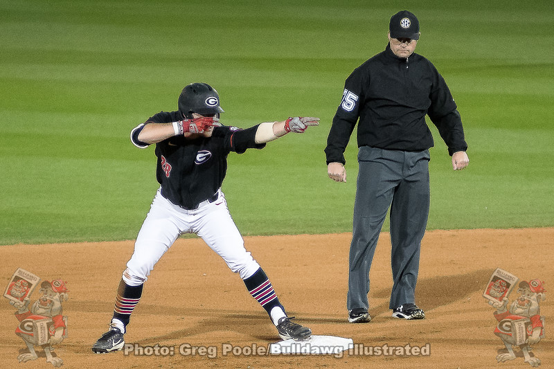 Tucker Bradley celebrates  – Georgia vs. Texas A&M – March 30, 2018