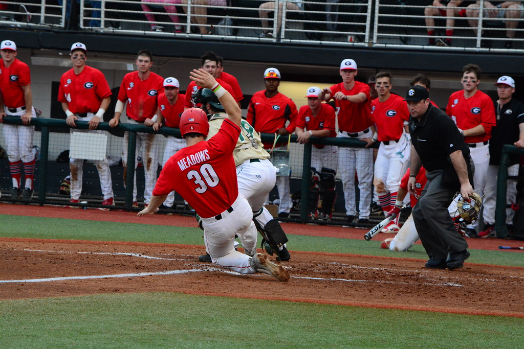 Mason Meadows – Georgia vs. Charlotte – February 24, 2018 Photo by Caitlyn Tam/Georgia Sports Communications
