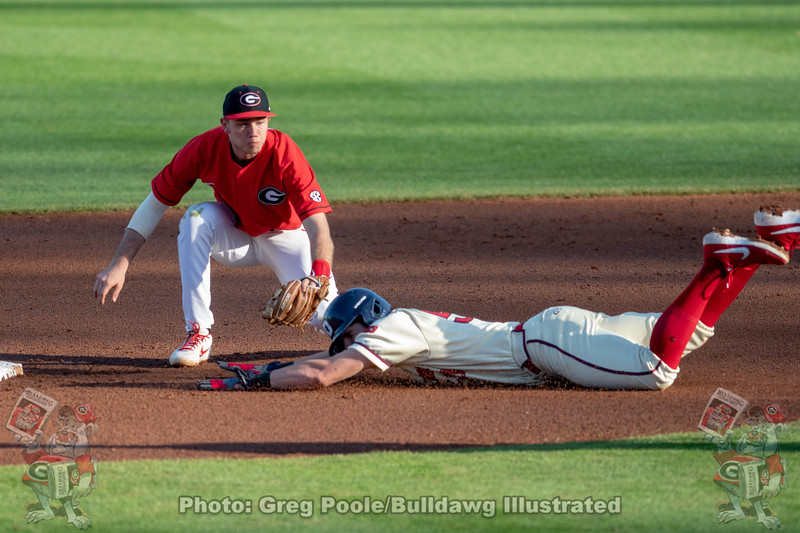 Georgia vs. Dayton 2019 - Game Three - February 16, 2019 - Foley Field - UGA-13, Dayton-1