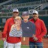 Coach Stricklin's parents missed their first game , but this cutout put them in Foley Field in spirit.