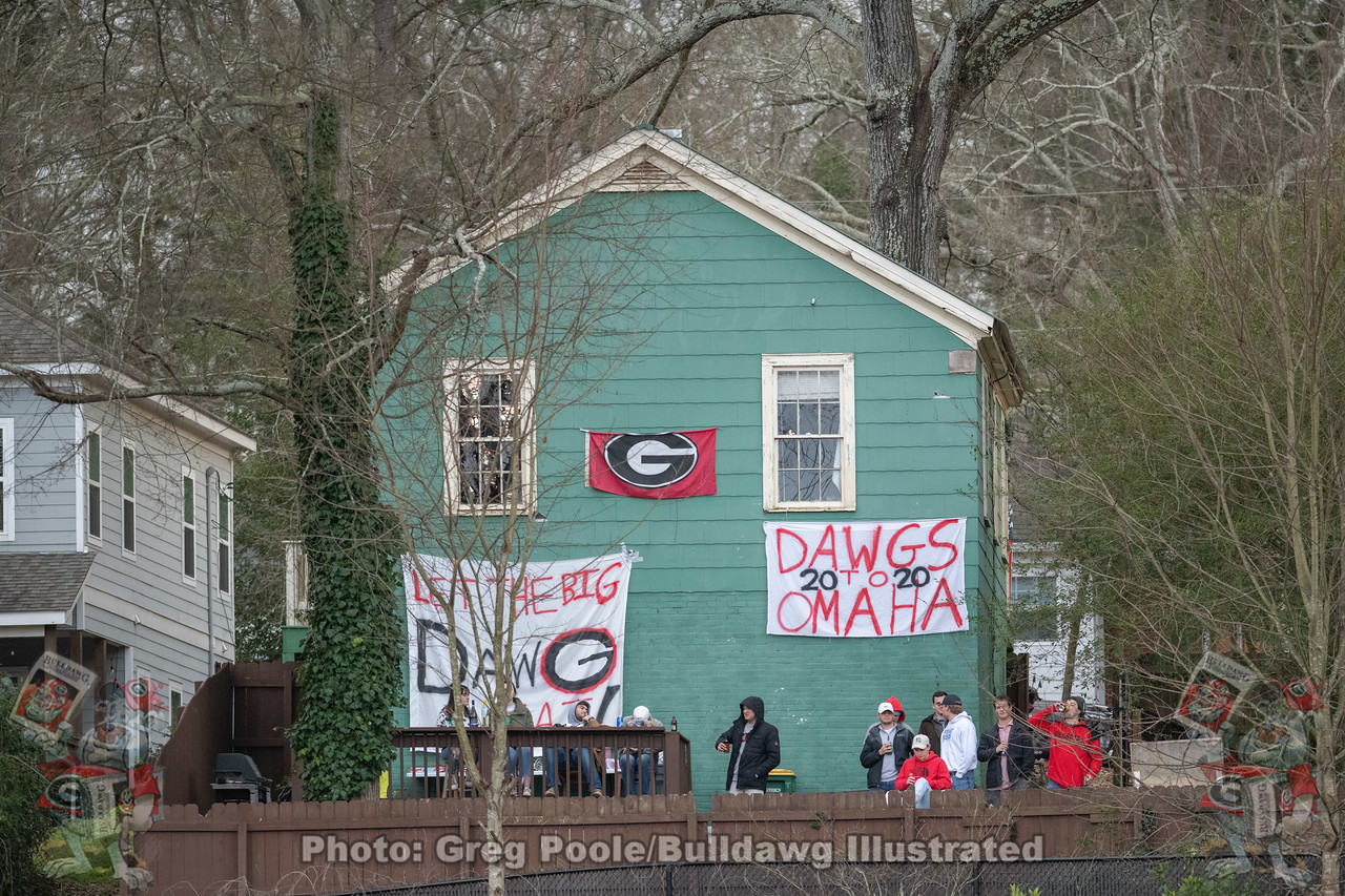"""The Green House"" atop Kudzu Hill overlooking Foley Field, Athens, GA"