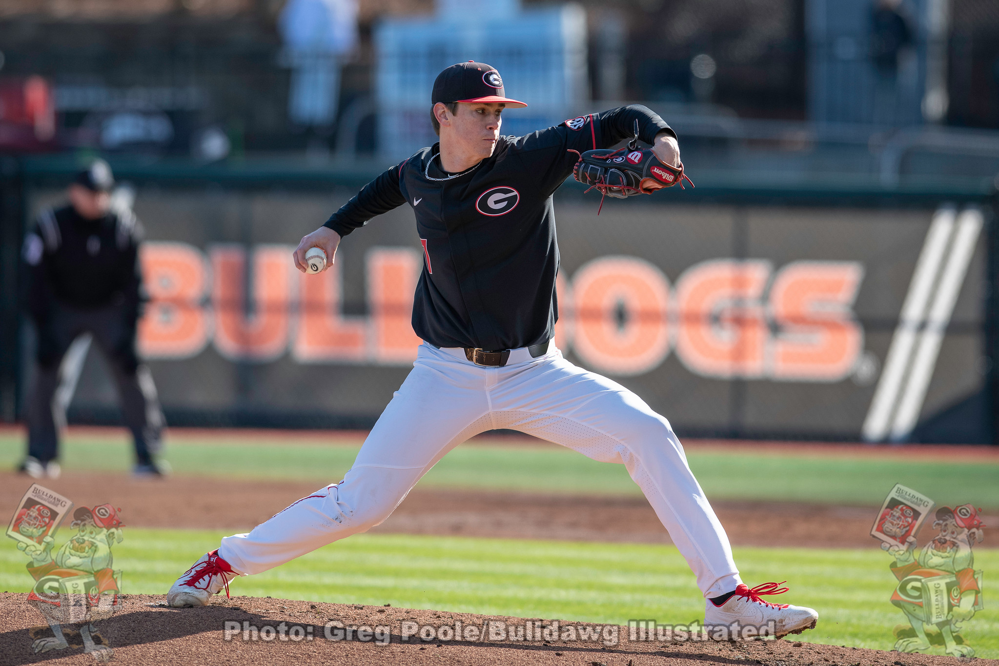 Right-hander Emerson Hancock started and pitched seven innings for Georgia in the Bulldogs 9-0 win on Friday over Santa Clara at Foley Field | February 21, 2020