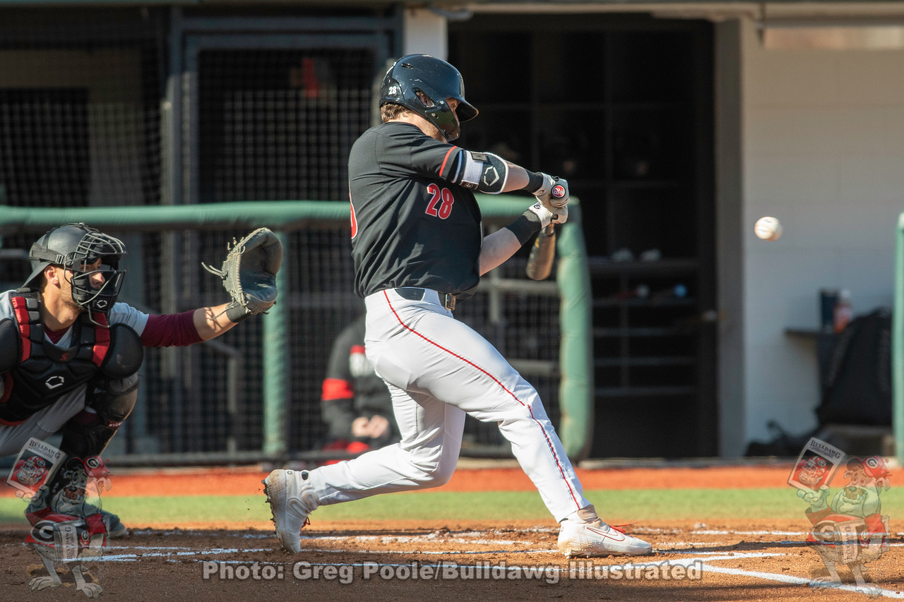 UGA baseball's Tucker Bradley at the plate during the Bulldogs' game versus Santa Clara on Friday, February 21, 2020 at Foley Field.