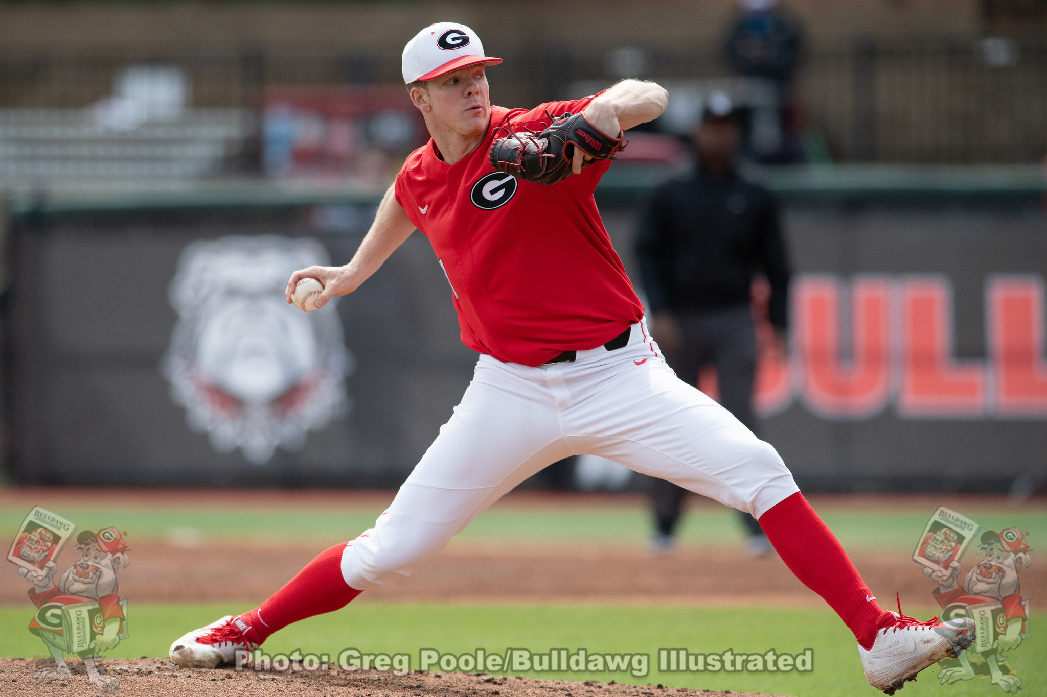 UGA baseball RHP Logan Moody | Georgia vs. UMASS - Game Three | Foley Field, Athens, GA | Sunday, March 8, 2020