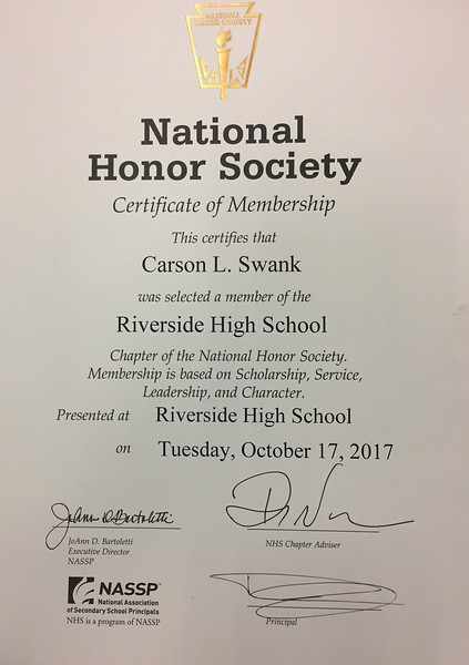 National Honor Society