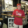 Holding Babe Ruth's bat at the All Star Fan Fest