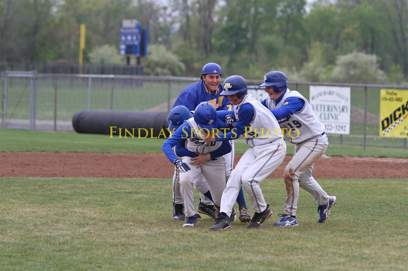 The beat down after hittings in the winning run!