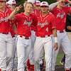 The Argyle Eagles baseball team defeats the Canyon Eagles with a final score of 19-1 in the fifth inning at Abilene Christian University in Abilene, Texas, on May 23, 2019. (Andrew Fritz | The Talon News)