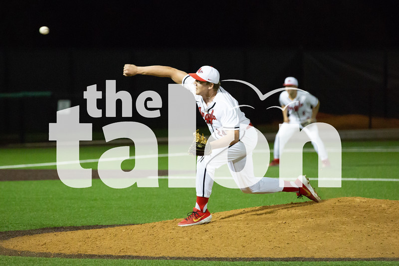 The Argyle Eagles baseball team defeats the Springtown Porcupines with a final score of 11-1 in the fifth inning at Argyle High School in Argyle, Texas, on April 25, 2019. (Andrew Fritz   The Talon News)