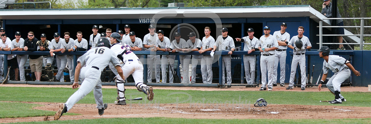 5/13/16 Storrs Connecticut: UCF's Sam Tolleson (16) slides into home plate during an American Athletic Conference matchup. The Huskies defeated the Knights 5-4 at J.O. Christian Field in Storrs, Connecticut.