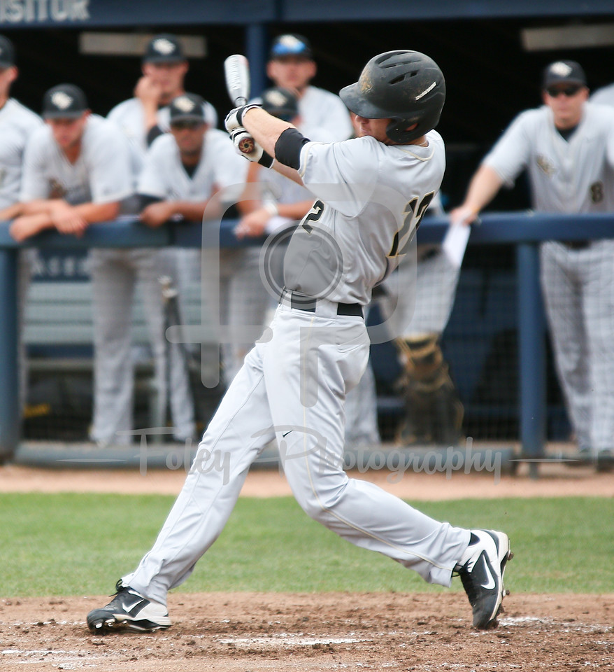 5/13/16 Storrs Connecticut: UCF's Luke Hamblin swings during an American Athletic Conference matchup. The Huskies defeated the Knights 5-4 at J.O. Christian Field in Storrs, Connecticut.