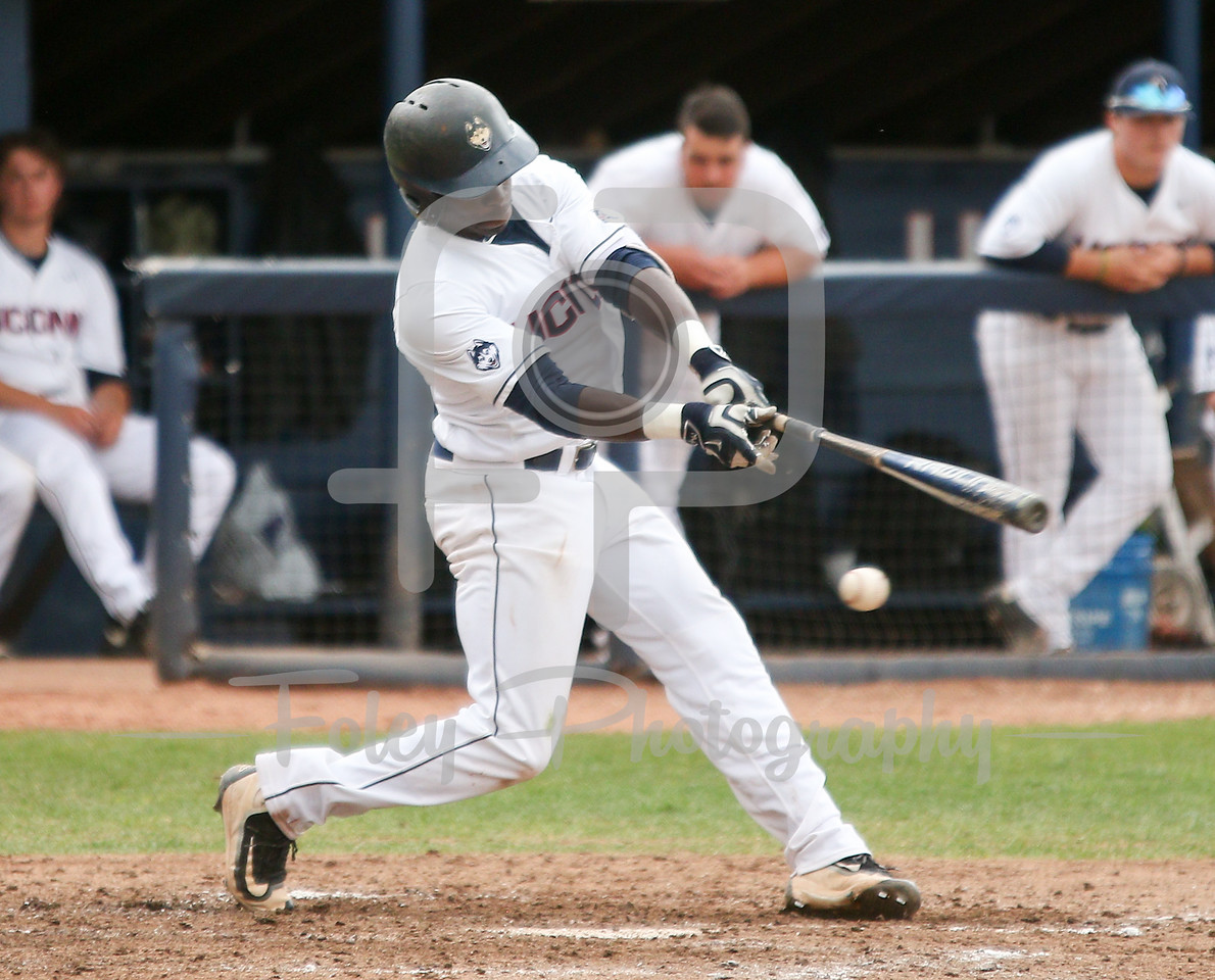 5/13/16 Storrs Connecticut: UConn's Aaron Hill (2) swings and misses during an American Athletic Conference matchup. The Huskies defeated the Knights 5-4 at J.O. Christian Field in Storrs Connecticut.