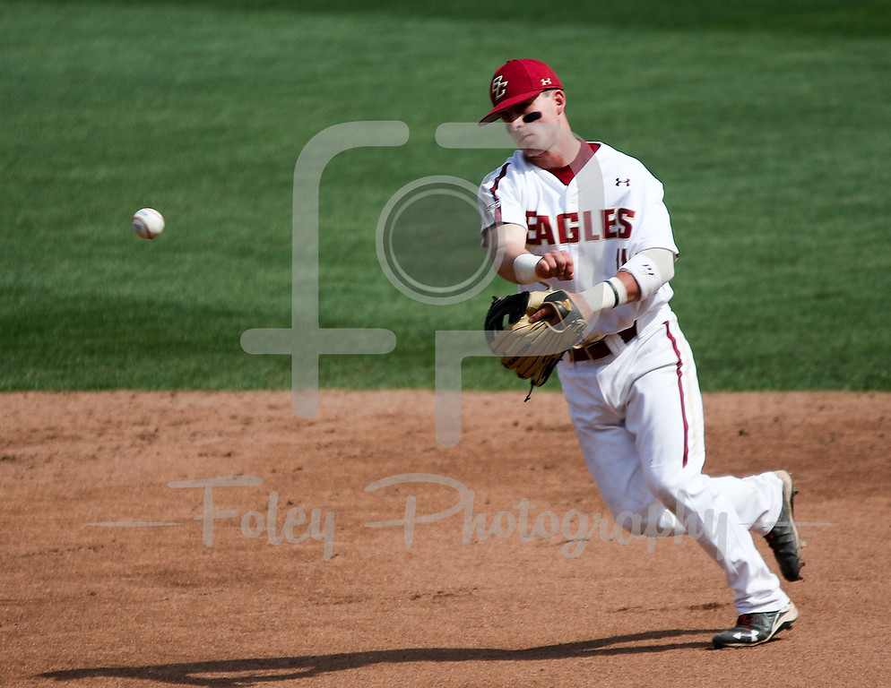 Boston College second baseman Jake Palomaki (11)
