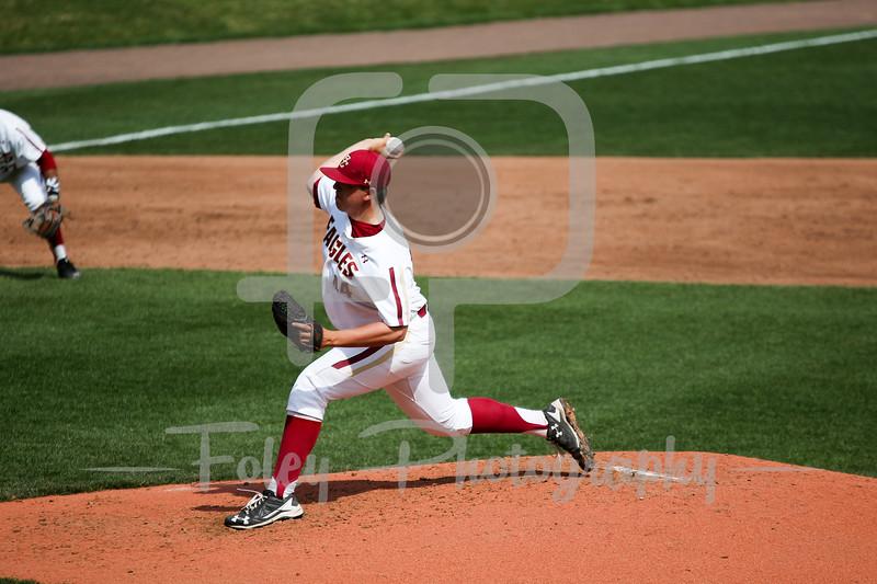 Boston College pitcher Jacob Stevens (44)