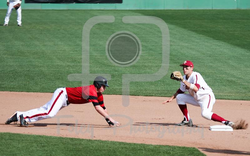 Louisville pitcher Brendan McKay (38) Boston College infielder Johnny Adams (8)