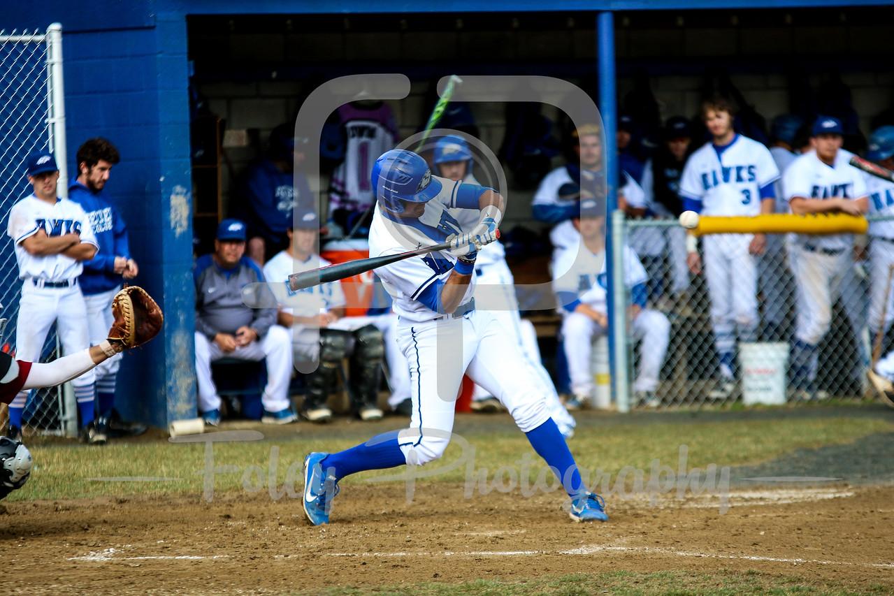 Becker College Hawks catcher Kevin Perez (2)