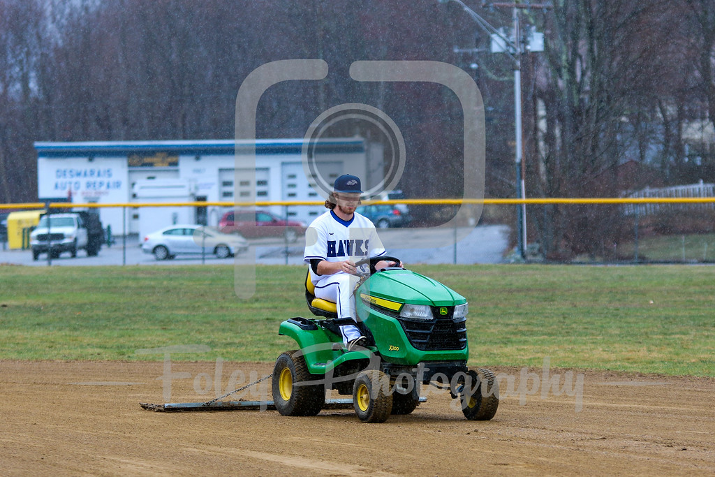 Becker College Hawks Player does the infield