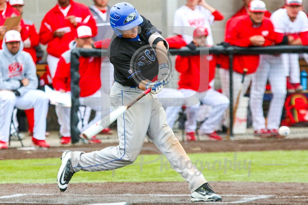 Becker College Hawks second baseman Christopher Testa (21)
