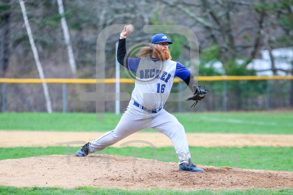Becker College Hawks pitcher Sean Simas (16)