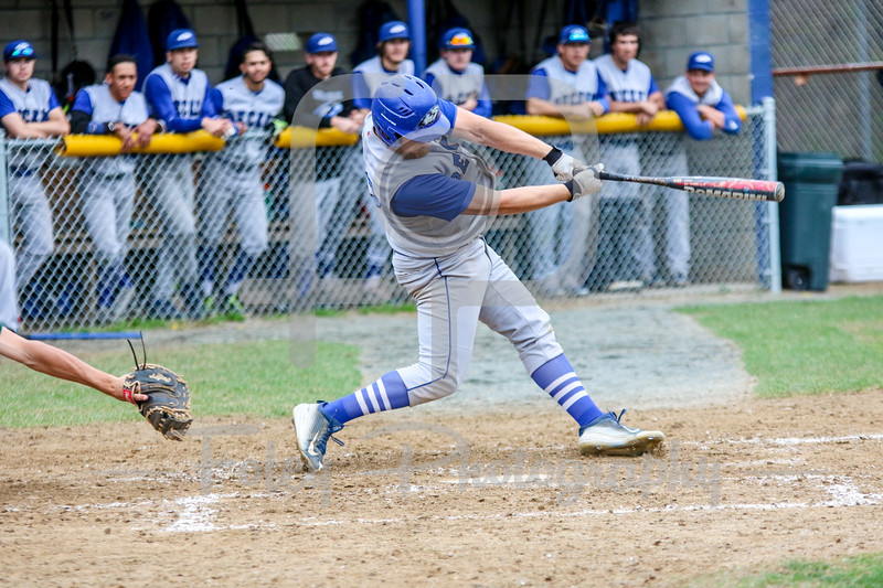 Becker College Hawks first baseman Nick Harriman (22)