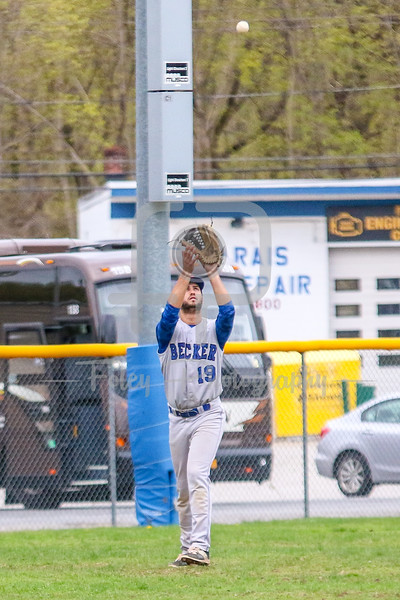 Becker College Hawks outfielder Evan Barrera (19)