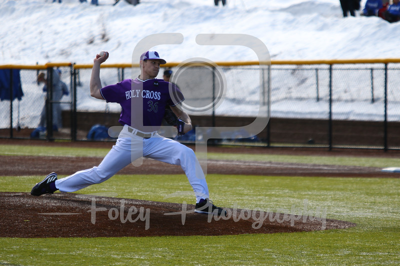 Holy Cross pitcher Declan Cronin (36)