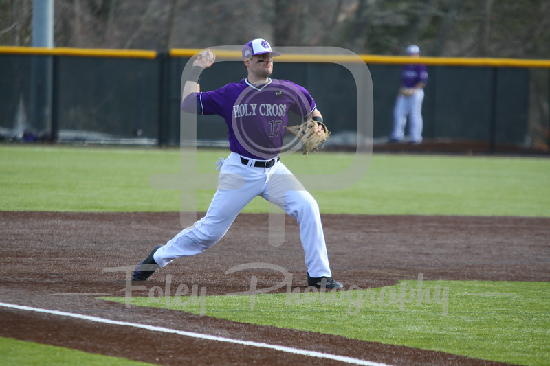 Holy Cross infielder Thomas Russo (17)